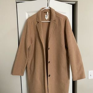 GAP WOMEN'S TAN WOOL TRENCH COAT